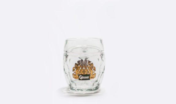 Gösser Bierkrug mit Echtgold!